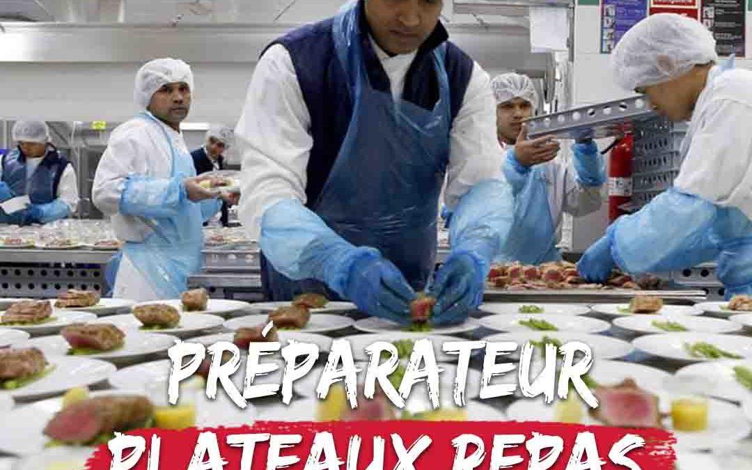 Formation préparateur plateaux repas